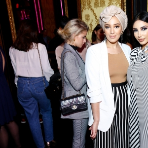 Sananas and guest attend the Karl Lagerfeld & ModelCo