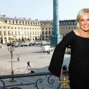 CEO Shelley Sullivan poses at the Karl Lagerfeld & ModelCo