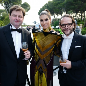 Renaud Fillioux de Gironde and Laury Thilleman, the amfAR Gala Cannes 2017