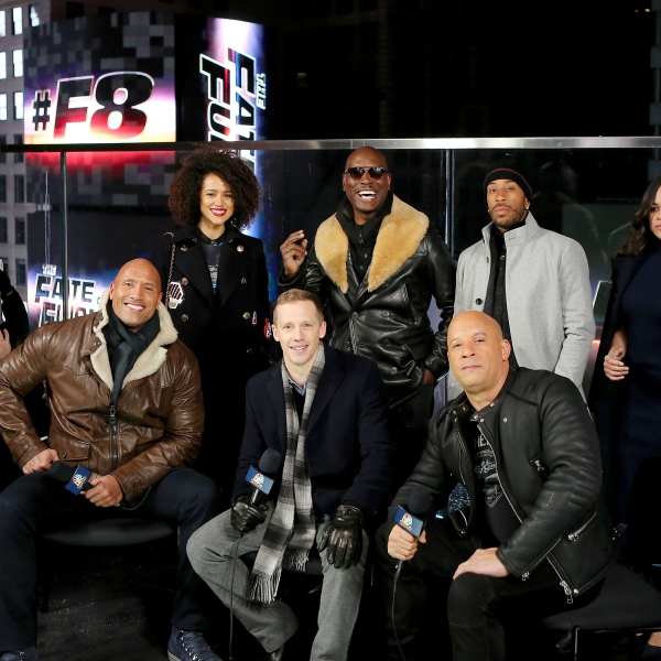 "The Cast of ""The Fate of The Furious"" Present the Film's Trailer Launch in Times Square."