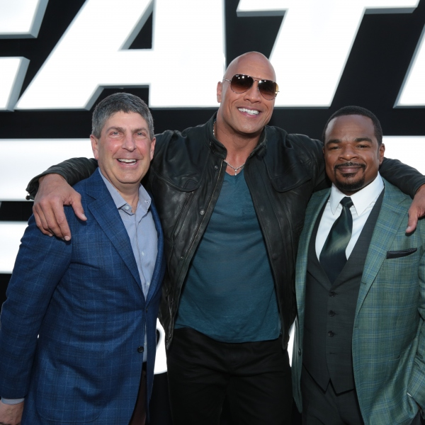 FAST AND FURIOUS 8 Jeff Shell, Dwayne Johnson, F. Gary Gray